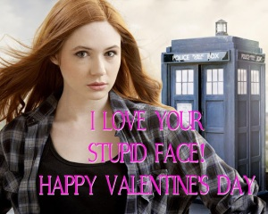 Doctor who valentine printable amy pond stupid face