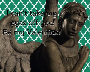 Doctor who valentine printable weeping angels eyes opened chase yell