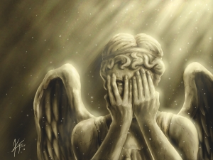 Peeking Weeping Angels