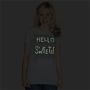 Hello Sweetie Glow in the Dark T-Shirt (dark) via ThinkGeek[3]
