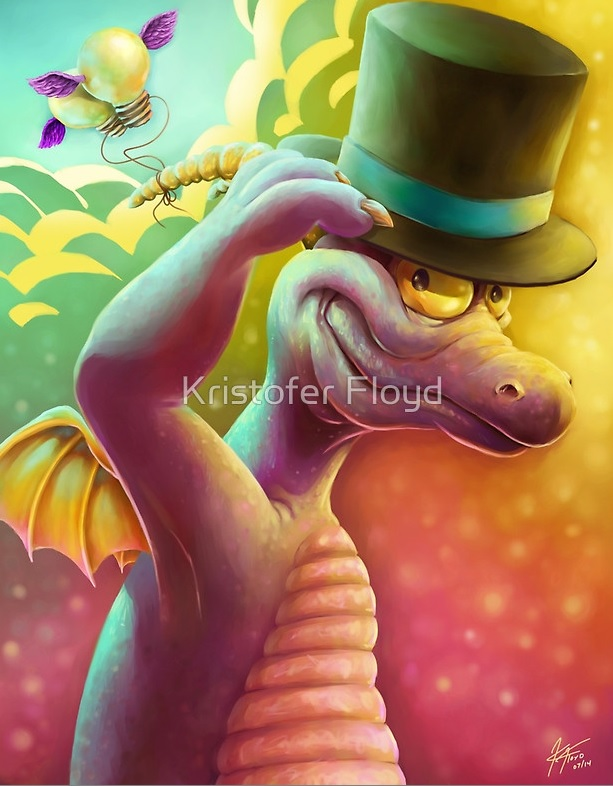 Figment's nod to his dear friend the Dreamfinder