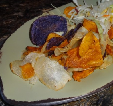 chips and slaw